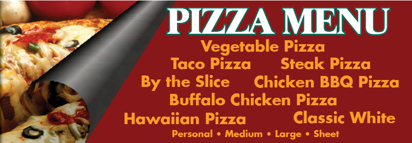 Pizza menu mast head